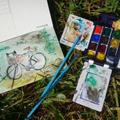 Bicycle Adventure Art - Olympic Peninsula Edition
