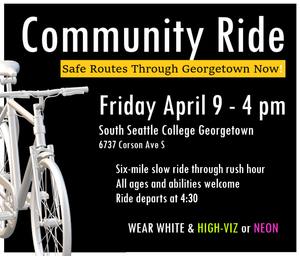 Community Ride: Safe Bike Routes Through Georgetown Now!